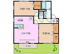 和の家 F棟[1階]の間取り