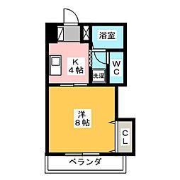 オーキッドマンション長田[1階]の間取り