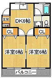藤井マンション[503号室]の間取り