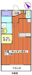埼玉県北足立郡伊奈町小室の賃貸マンションの間取り