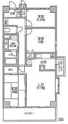 泉区新橋町 セントラルヒルズ四番館303号室[3階]の間取り