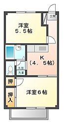 ラ・シャンスI[1階]の間取り