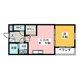 C‐calme桜本町[1階]の間取り