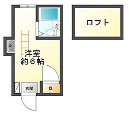 東京都府中市小柳町5丁目の賃貸アパートの間取り
