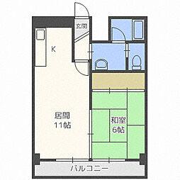 第8松井ビル[302号室]の間取り