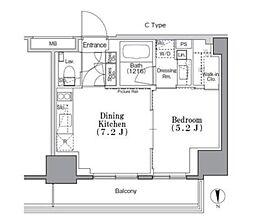 東京メトロ東西線 九段下駅 徒歩3分の賃貸マンション 6階1DKの間取り