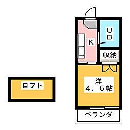 プラザ・ドゥ・パルコ[2階]の間取り