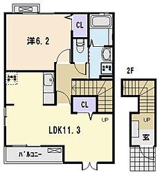 パサージュ[2階]の間取り