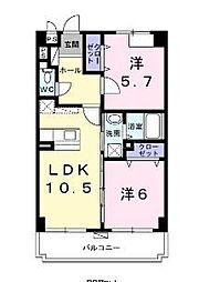 沖縄県糸満市字兼城の賃貸アパートの間取り