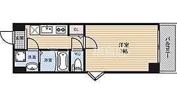 Osaka Metro千日前線 野田阪神駅 徒歩4分の賃貸マンション 3階1Kの間取り