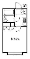 東京都目黒区東が丘1丁目の賃貸アパートの間取り