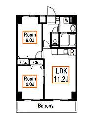 新築 リバティーズSAGAII[4階]の間取り