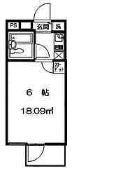 モイスンコート[2階]の間取り