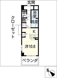サンリットW I棟[2階]の間取り