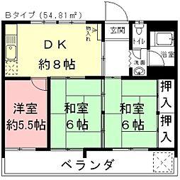 ぎふ初寿司第4ビル[4B号室]の間取り