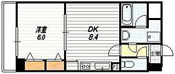 プラネシア星の子京都駅前西[7階]の間取り