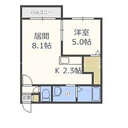 北海道札幌市東区北十八条東1の賃貸マンションの間取り