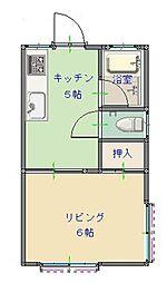 松本ハイツ 101[1階]の間取り
