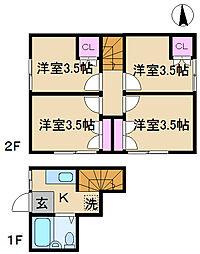 ソウワアパート[2号室]の間取り