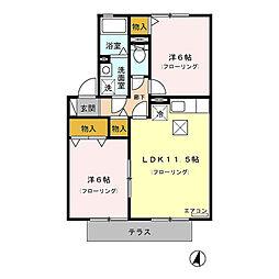 TOi et moi 弐番館[1階]の間取り