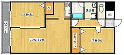 QM壱番館[7階]の間取り