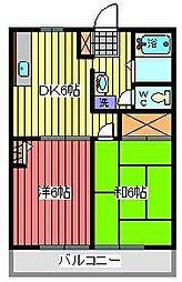 ドミールエントピア[2階]の間取り