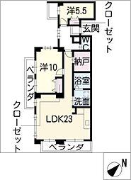 ラ・フォルトゥレス・ド・フェ覚王山[1階]の間取り