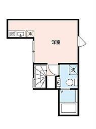 東武東上線 東武練馬駅 徒歩4分の賃貸アパート 3階ワンルームの間取り
