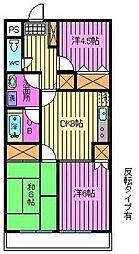 アベニュー壱番館[3階]の間取り