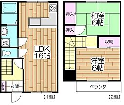 [タウンハウス] 東京都足立区中央本町5丁目 の賃貸【/】の間取り