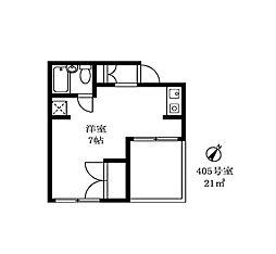 柳屋ビル[4階]の間取り