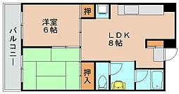第2岡部ビル[5階]の間取り