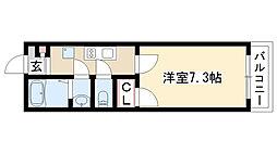 愛知県名古屋市昭和区駒方町4丁目の賃貸アパートの間取り