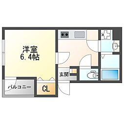 JR東海道・山陽本線 塚本駅 徒歩7分の賃貸アパート 2階1Kの間取り
