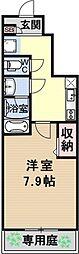 仮称)伏見小栗栖プロジェクト[106号室号室]の間取り