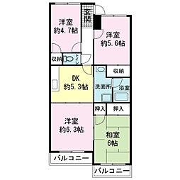 リヴァティーマンションA[3階]の間取り