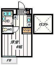 埼玉県戸田市上戸田2丁目の賃貸アパートの間取り
