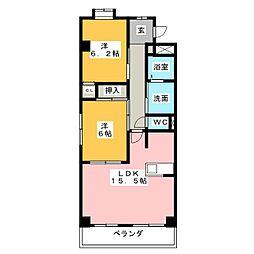 レジデンス野並[3階]の間取り