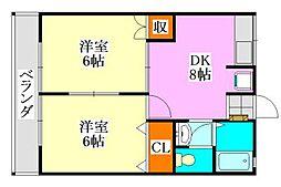 シティハイムアカツキ[203号室]の間取り