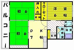 ロイヤルコーポ堺[3階]の間取り