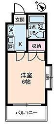 神奈川県相模原市南区南台2丁目の賃貸マンションの間取り