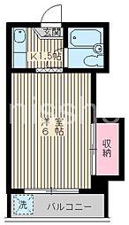 東京都中野区鷺宮6丁目の賃貸アパートの間取り