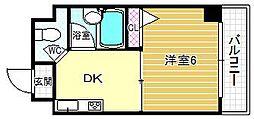 プレステージ堂島[401号室]の間取り