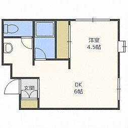 ピースハイツ35[3階]の間取り