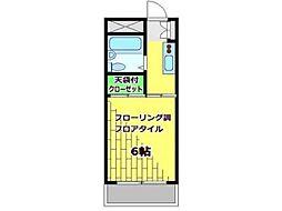 グリーントップXI[2階]の間取り