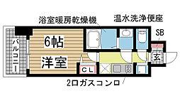 ララプレイス神戸西元町[803号室]の間取り