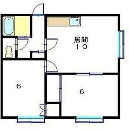 フロスティ月寒東A[2階]の間取り