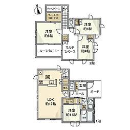 [一戸建] 神奈川県横浜市港南区笹下4丁目 の賃貸【/】の間取り