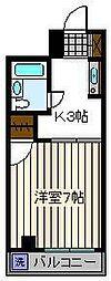 ワナー桜木[3階]の間取り