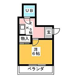 マリエ共和[7階]の間取り